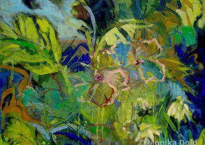 Urwaldbluehen-Acryl-75x90cm
