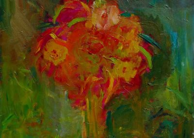 Blumenstrauss-Oel-40x30cm