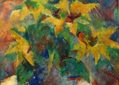 Sonnenblumen_Abstr.I-Oel-50x40cm